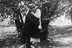 / Vintage Porn Video of two Girls Fucking with a Man who They Saw Pissing Watch Real Outdoors Hardcore Action