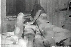 / Farmer Couple is Having a Good Time in this Vintage Porn Video They Fuck Outdoors with Cattle Watching Them Have Sex