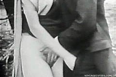 / Vintage Video of a Couple Outdoors and Man is Fondling Girl