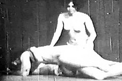 / Old Vintage Porn Video of 1960s Featuring two Student Girls Enjoying a Sex Act with Their Teacher and His Big Cock