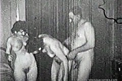 / Old Man is Serviced by two Matures in a True Vintage Group Sex Hardcore Video of the 1930s all Uncensored and Hot