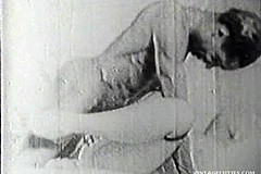 / Very Old Vintage Interracial Porn Video where African American Driver is Fucking the White Old Dame in Her Asshole