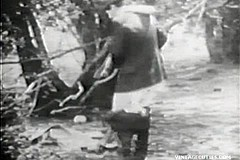 / Vintage Porn Video of a Man Peeing Outdoors and two Girls Asking Him to Fuck Them into Their Big Hairy Pussies