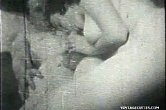 / Amateur Couple is Fucking in this Vintage Porn 1950s Video where Enthusiastic Wife Sucks Cock and Takes it Inside