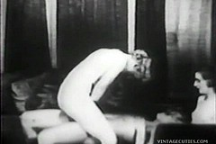 / Vintage Porn Video of two Teen Girls Fucking a Lucky Man and They Don