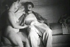 / Old Man and an Escort Girl in this Vintage Porn Video of 1950s where She Needs to Take Care of the Aged Cock