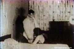 / retro Homemade Video of a Sexy Couple in 1960s Enjoying Oral Sex and then Lying in Bed Fucking Hard and Moaning