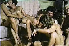 / Awesome Swinger Fucking Orgy of the 1970 Hairy Teen Girls Being Fucked into all Holes and They Beg to Let Men Cum in Their Mouths