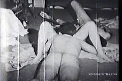 / Vintage Video of a Couple where the Experienced Lady Teaches Her Fuck Partner to Lick Her Pussy until She gets an Orgasm
