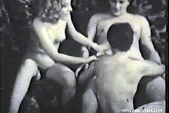/ Vintage Porn Movie of two Sexy Amateur Girls Having Sex with one Boy They Suck Fuck and Swallow all His Cum