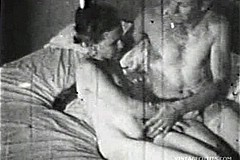 Vintage Blowjob / Vintage Porn Video of the 1950s where Older Man Persuaded a Younger Girl to Blowjob and Passionate Fucking