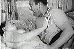 / This Funny Man Asked Her Wife About Letting Him Fuck Her Twat but Ejaculate His Cum into Her Mouth in Vintage Video